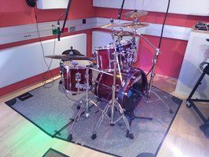 Aufnahme der Drums
